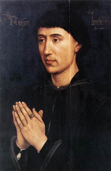 Portrait of Laurent Froimont, c.1460 - c.1464 - Rogier van der Weyden