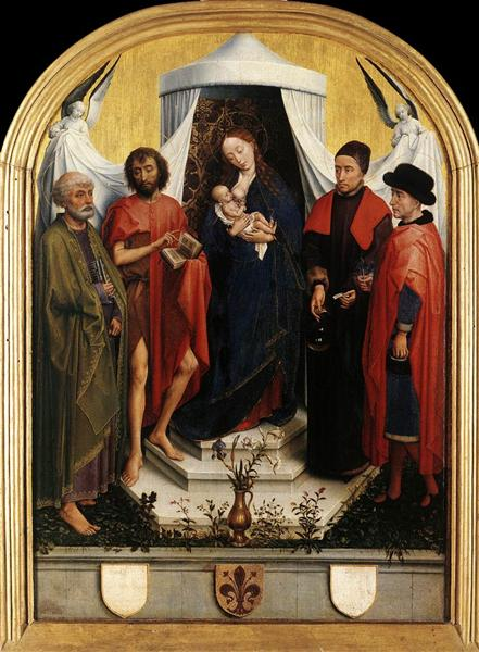 Virgin with the Child and Four Saints, 1450 - 1451 - Рогір ван дер Вейден