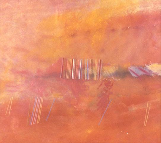 Orange Line Painting, 1969 - Ronnie Landfield
