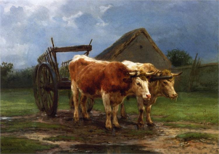 Oxen Pulling a Cart - Rosa Bonheur