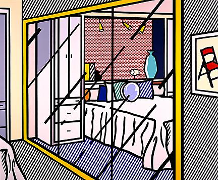 Interior with mirrored closet, 1991 - Roy Lichtenstein