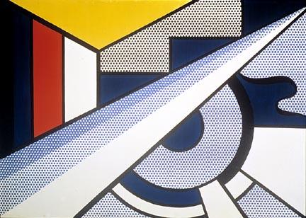 Modern painting with wedge, 1967 - Roy Lichtenstein