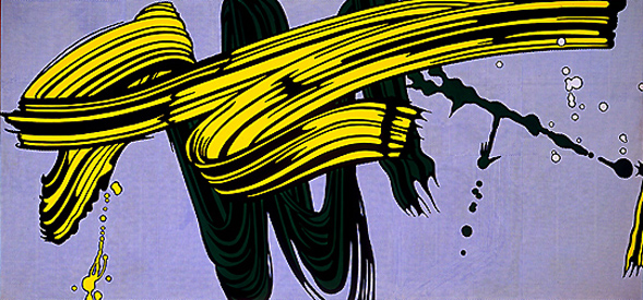 Yellow and green brushstrokes, 1966 - Roy Lichtenstein