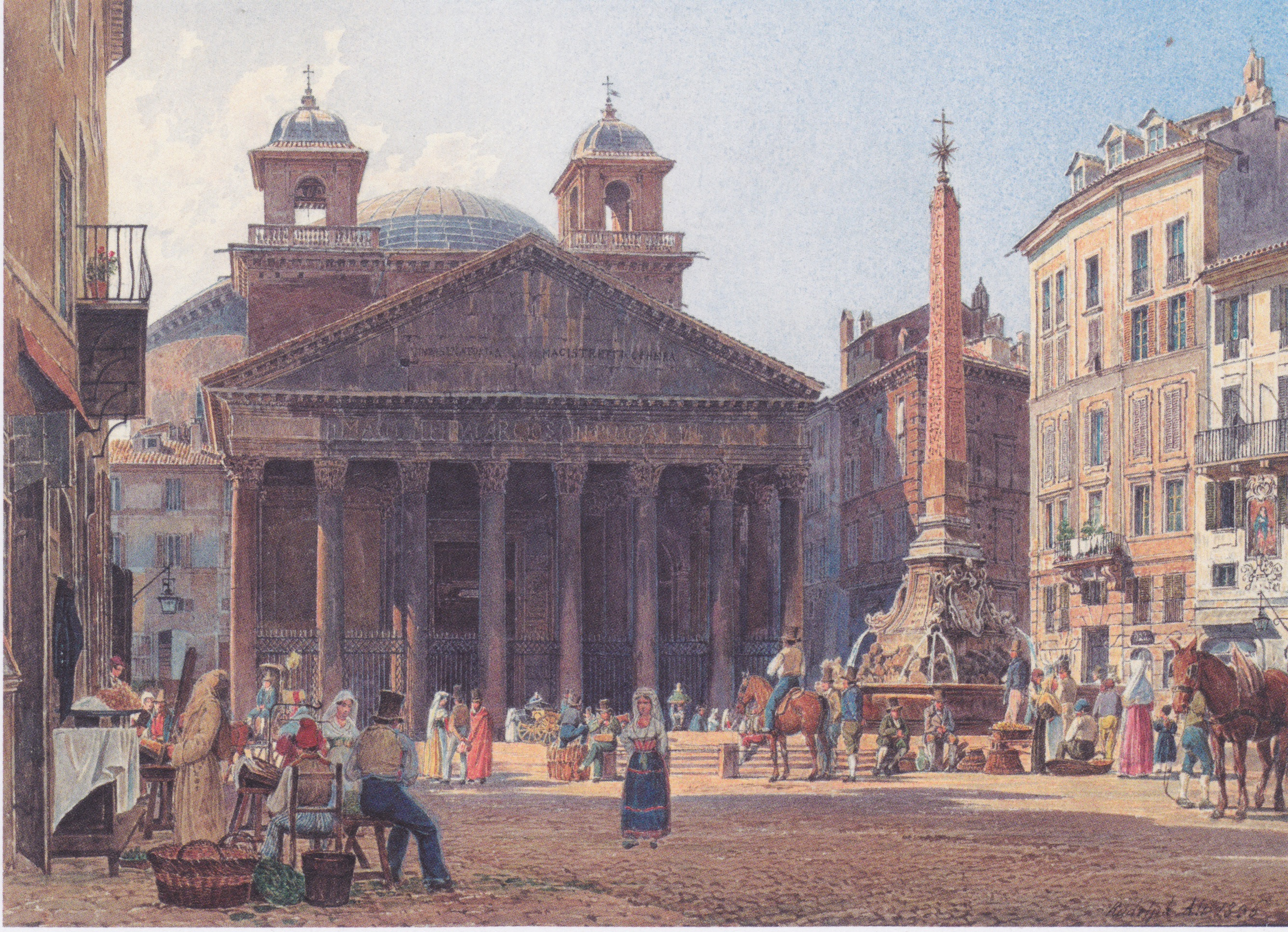 The Pantheon and the Piazza della Rotonda in Rome, 1835
