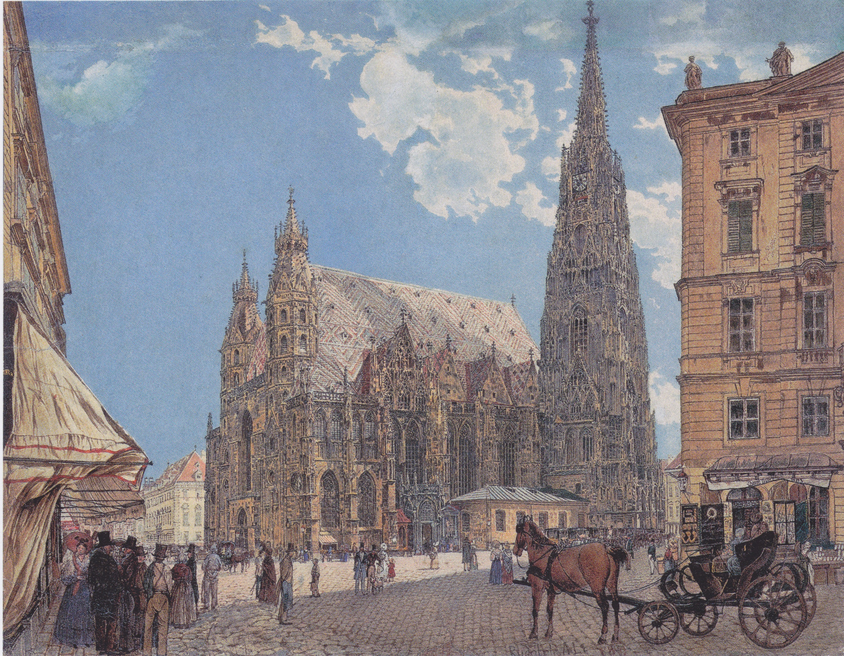 The St. Stephen's Cathedral in Vienna, 1831