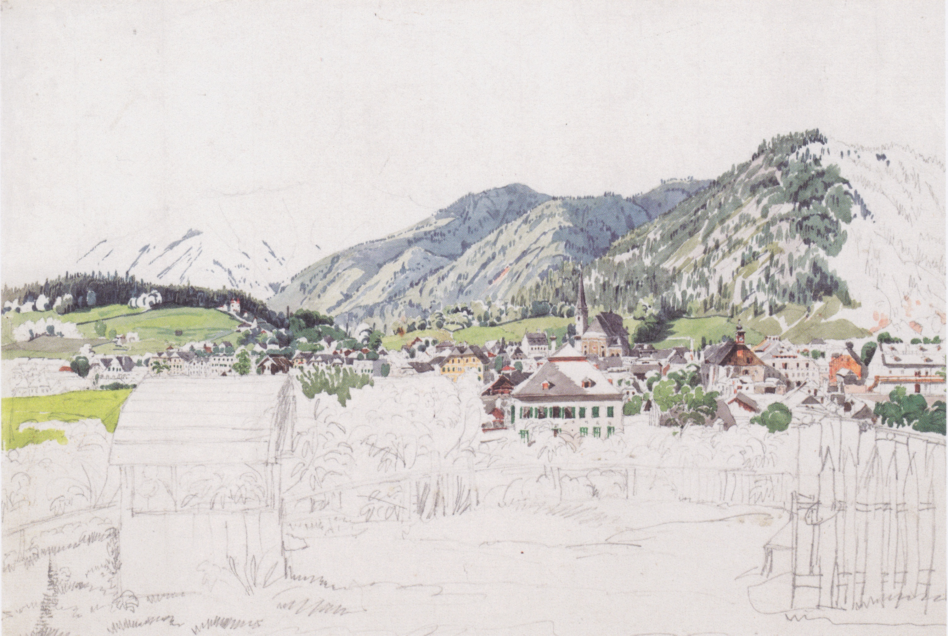 View of Ischl, 1830