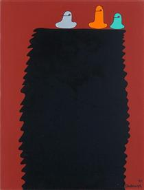 Three colors on top - Sadamasa Motonaga