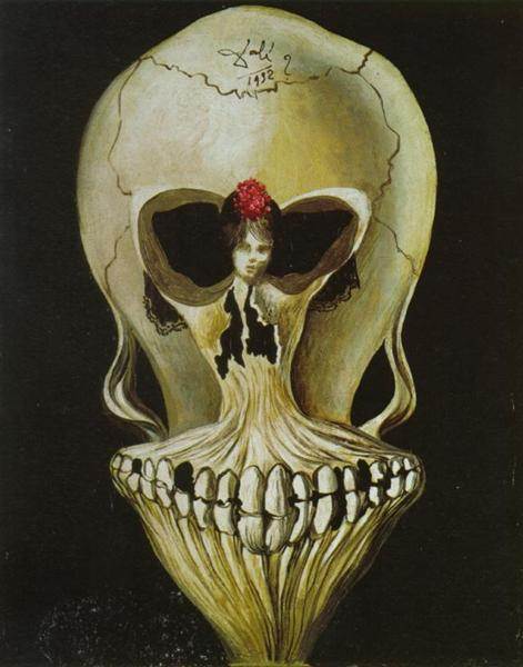 Ballerina in a Death's Head, 1939 - Salvador Dali