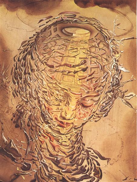 Raphaelesque Head Exploding, 1951 - Salvador Dali