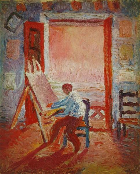 Self-Portrait in the Studio, 1919 - Salvador Dali