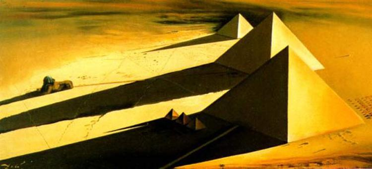 The Pyramids and the Sphynx of Gizeh, 1954 - Salvador Dalí