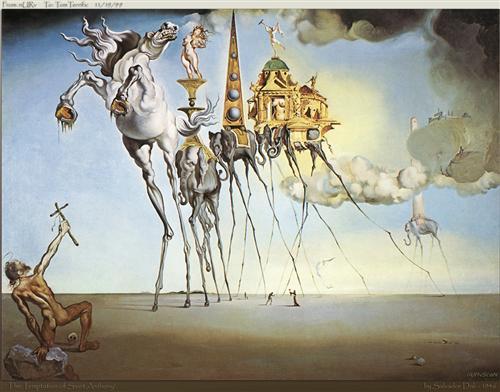 The Temptation of St. Anthony - Salvador Dali