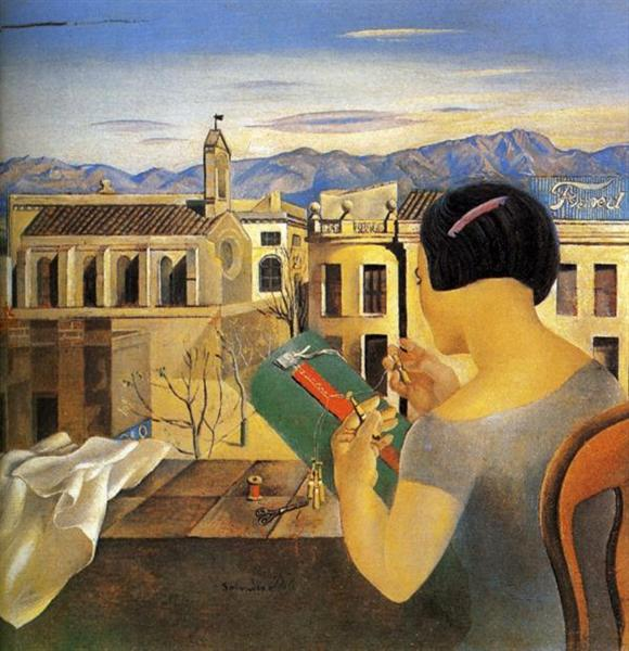 Woman at the Window in Figueras, 1926 - Salvador Dali - WikiArt org