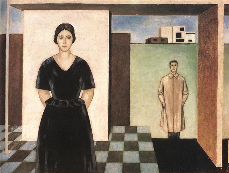 Architect Forbát and his Wife, 1924 - Sandor Bortnyik