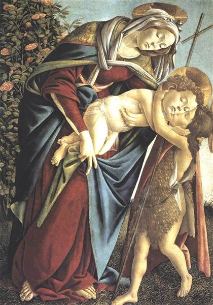 Madonna and Child and the Young St John the Baptist, 1495 - Sandro Botticelli