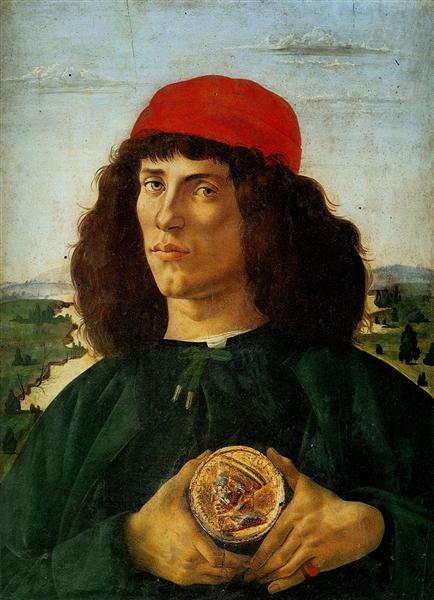 Portrait of a Man with the Medal of Cosimo, 1474 - Sandro Botticelli