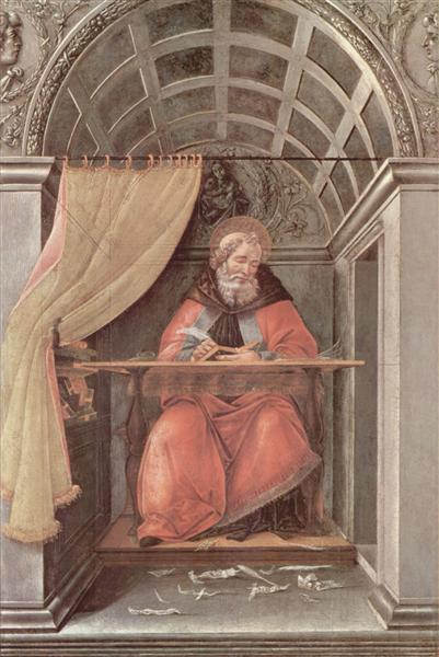 St. Augustine in his cell, 1490 - Sandro Botticelli