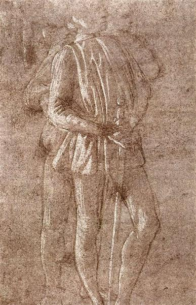 Study of two standing figures, c.1475 - Sandro Botticelli