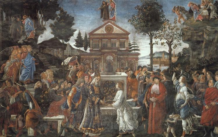 The Temptation of Christ, 1481 - 1482 - Sandro Botticelli