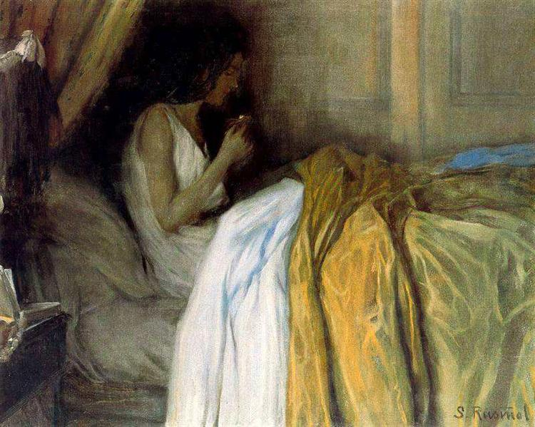Before the Morphine, 1890 - Santiago Rusinol