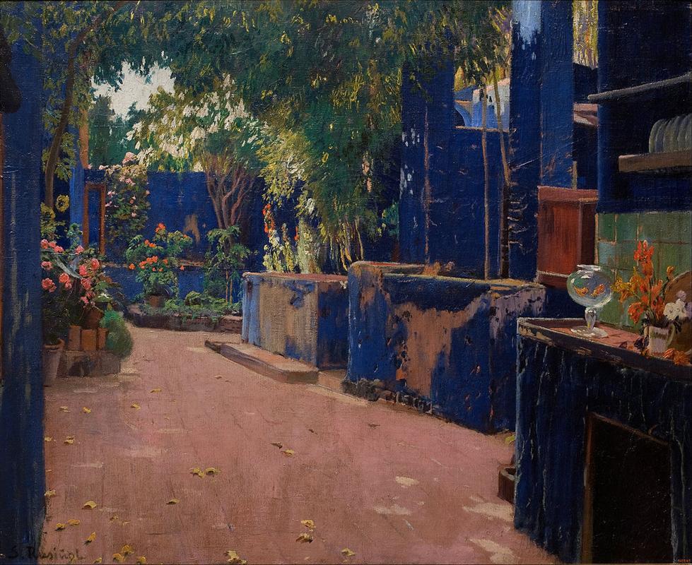 Santiago Rusiñol: Patio azul (1913).