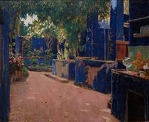 Blue Courtyard, Arenys de Munt - Santiago Rusiñol