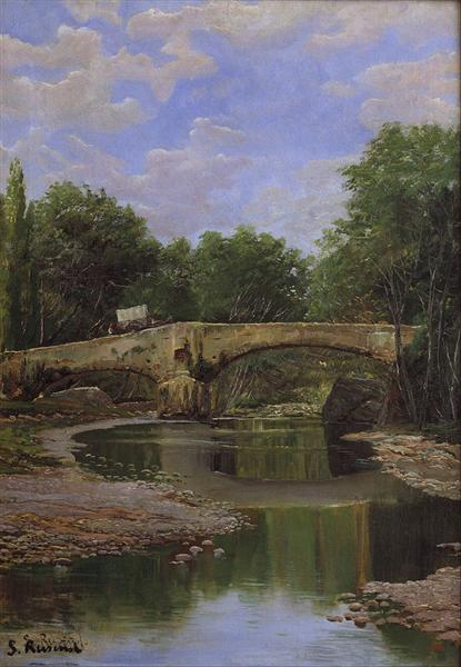 Bridge over a River, 1884 - Santiago Rusinol