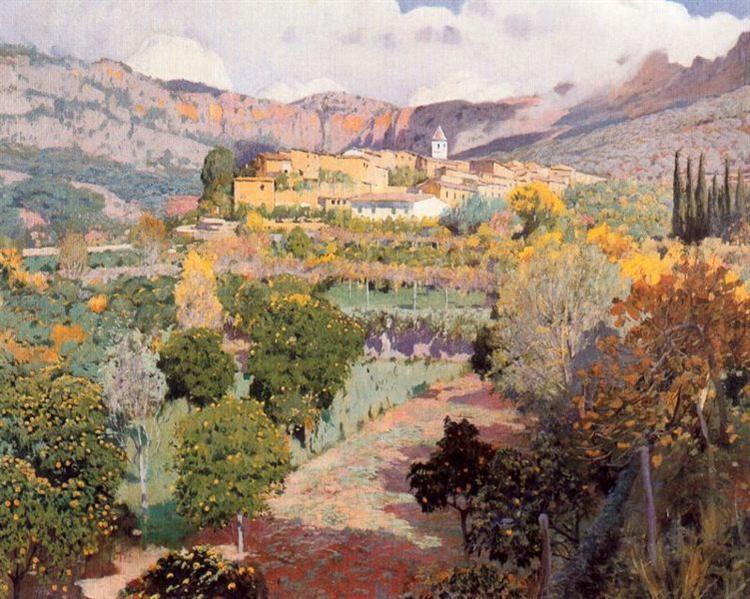 El Valle de Los Naranjos - Santiago Rusinol