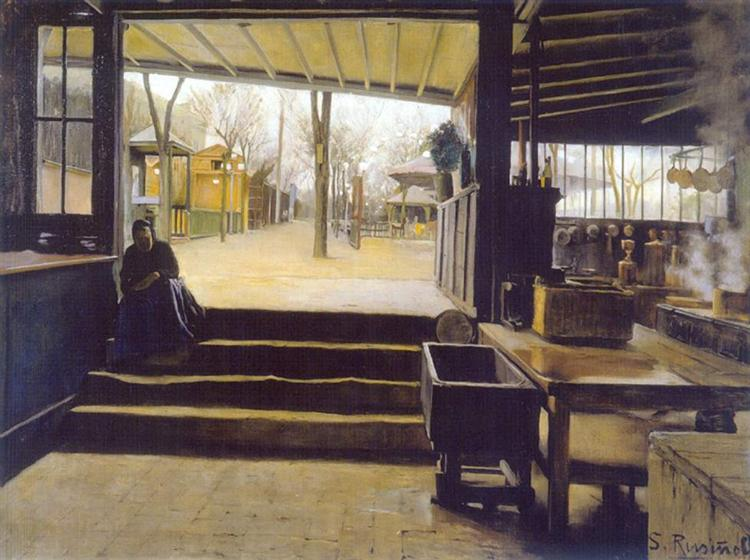 The kitchens, Moulin de la Galette - Santiago Rusinol