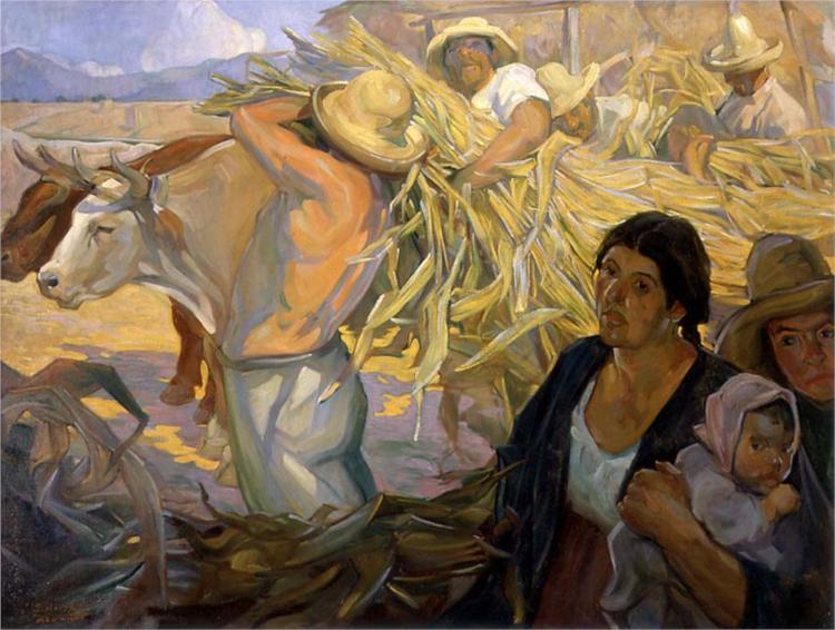 La cosecha, 1909 - Saturnino Herran