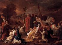 Moses and the Brazen Serpent - Sébastien Bourdon