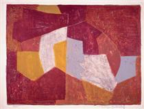 Composition carmin, brune, jaune et grise - Серж Поляков