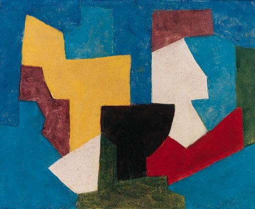 Composition multicolore à dominante bleue, 1969 - Serge Poliakoff