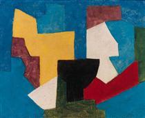 Composition multicolore à dominante bleue - Серж Поляков
