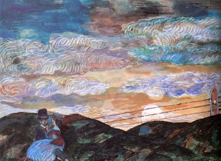 Влюбленные при луне, 1910 - Сергей Судейкин