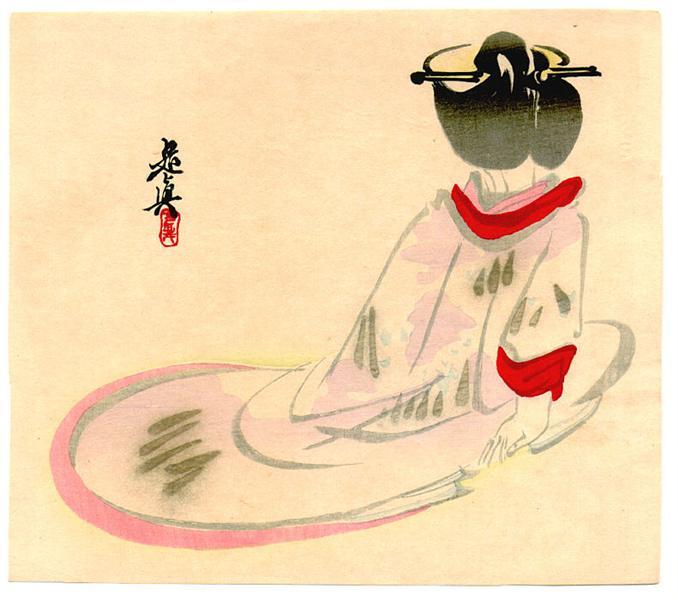 Sitting Lady, 1880 - Shibata Zeshin