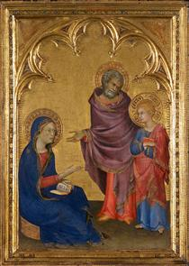 Christ Discovered in the Temple - Simone Martini