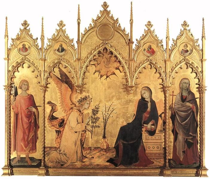 The Annunciation with St. Margaret and St. Ansanus, 1333 - Simone Martini