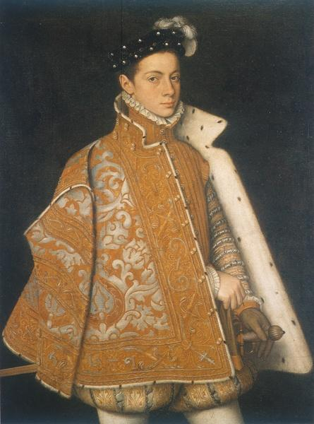 A portrait of a young Alessandro Farnese, the future Duke of Parma - Sofonisba Anguissola