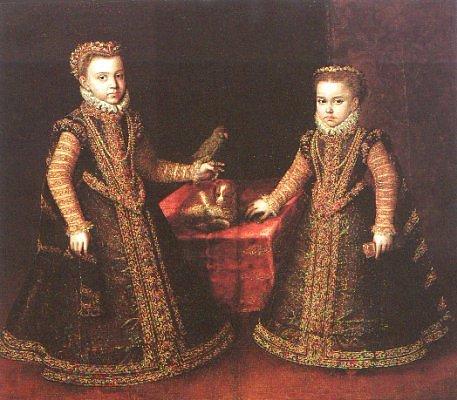 Infantas Isabella Clara Eugenia and Catalina Micaela, 1570 - Sofonisba Anguissola