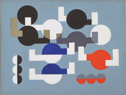 Composition of Circles and Overlapping Angles, 1930 - Sophie Taeuber-Arp