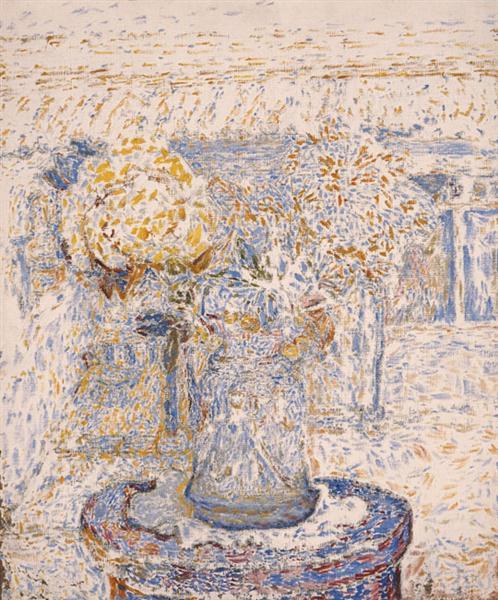 Vase of Flowers (dark colors), 1956 - Spyros Papaloukas
