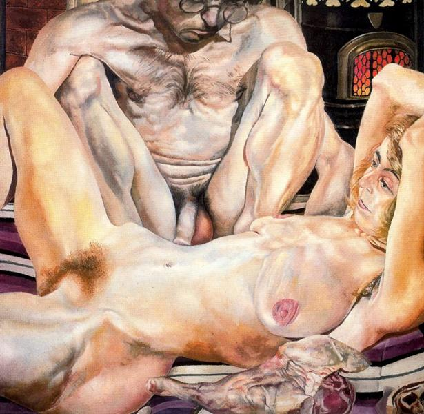 Double Nude Portrait: The Artist and his Second Wife (The leg of mutton nude), 1937 - Stanley Spencer
