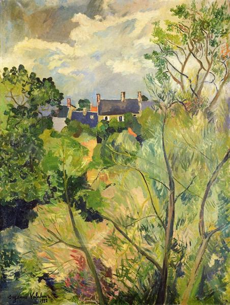 View from My Window in Genets (Brittany), 1922 - Suzanne Valadon