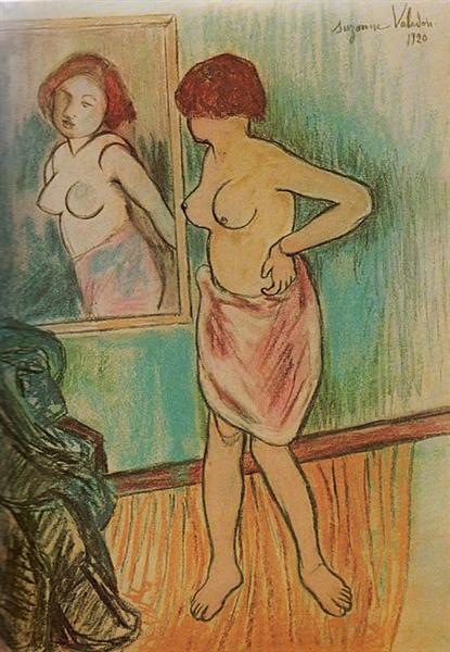 Woman Looking at Herself in the Mirror, 1920 - Suzanne Valadon