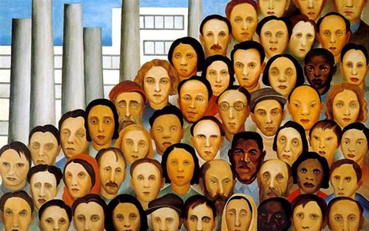Operários, 1933 - Tarsila do Amaral