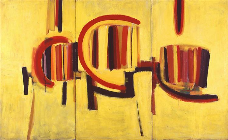 Yellow Triptych, 1959 - Terry Frost