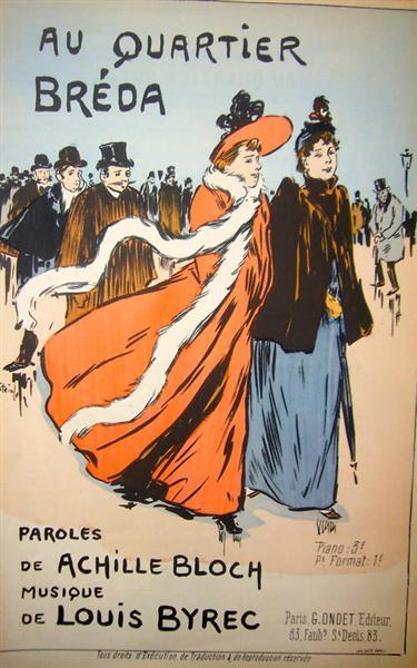 Au Quartier Breda, 1893 - Theophile Steinlen