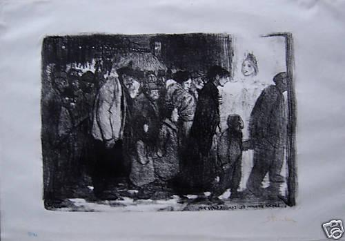 Aux Vrais Pauvres- Les Mauvais Riches, 1895 - Theophile Steinlen