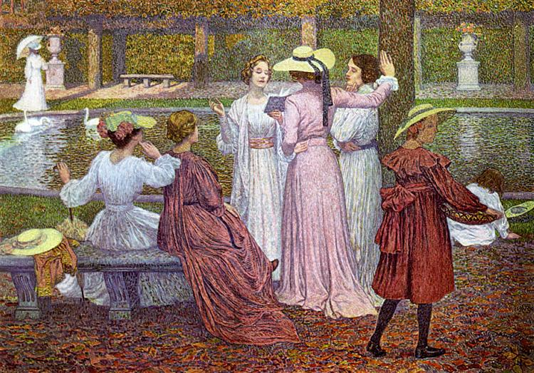 A Reading in the Garden, 1902 - Theo van Rysselberghe